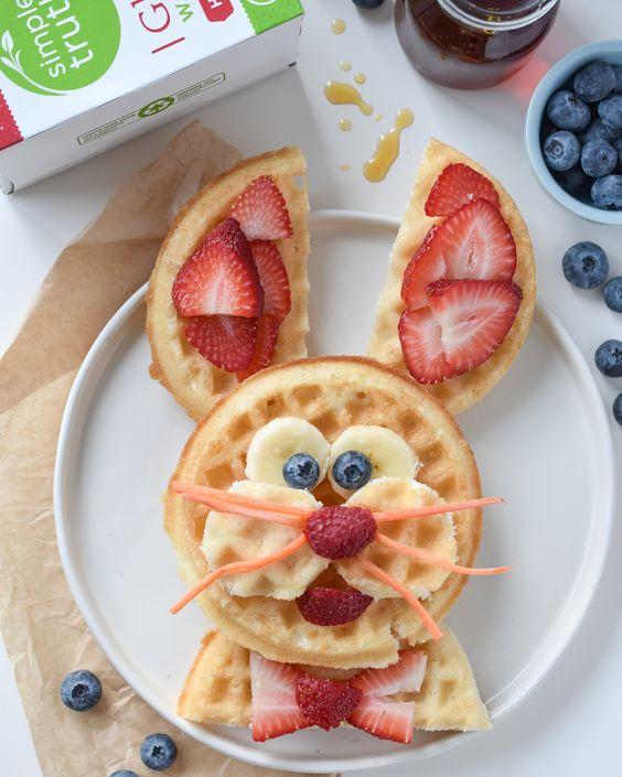 Easter Bunny Waffles Breakfast