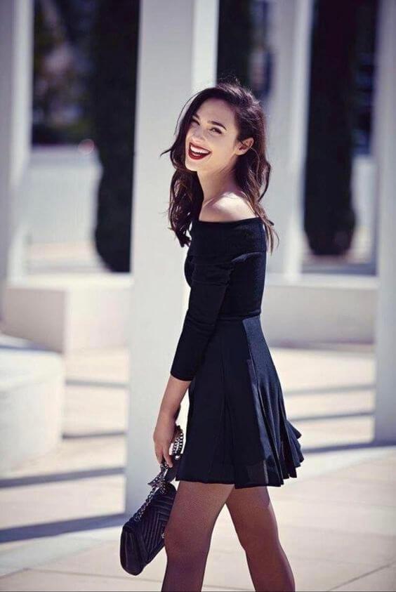Gal Gadot Black Dress