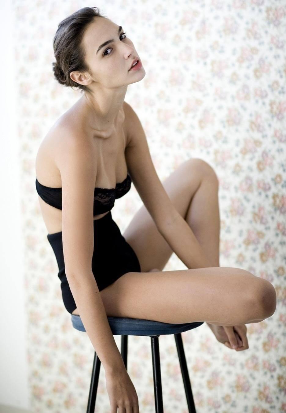Gal Gadot Sexy Black Lingerie