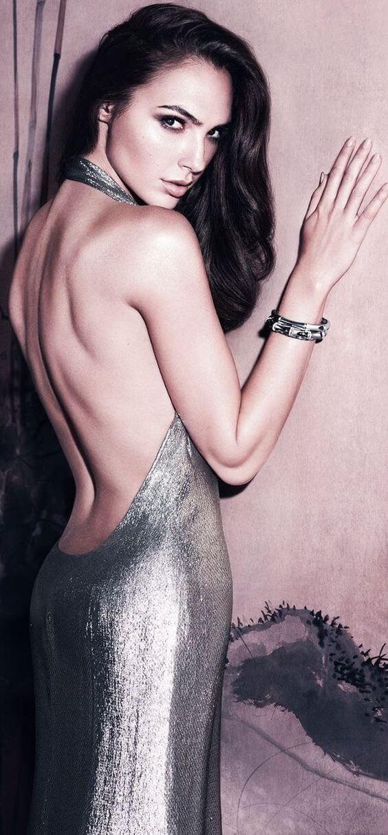 Gal Gadot Silver Dress