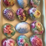 Hand Painted Porcelain Easter Egg