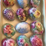 Hand Painted Porcelain Easter Egg