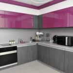Modern Kitchen Design And Ideas Purple And Grey