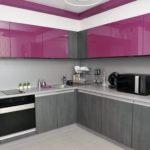 Modern Kitchen Design And Ideas Purple And Grey