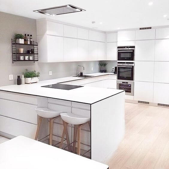 White Modern Kitchen Idea