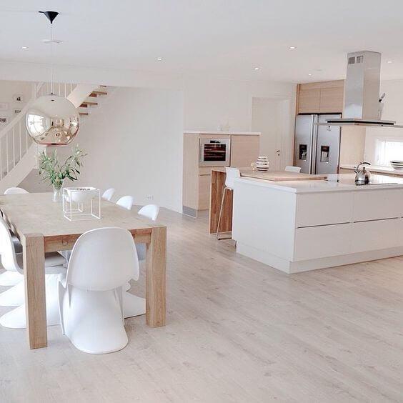 White Open Nordic Kitchen