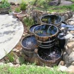 Creative Wine Barrel Water Garden