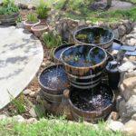 Creative Wine Barrel Water Garden