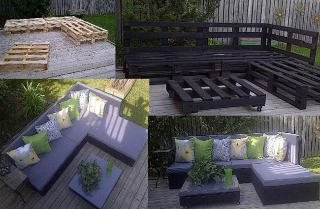 DIY Amazing Outdoor Pallet Lounge