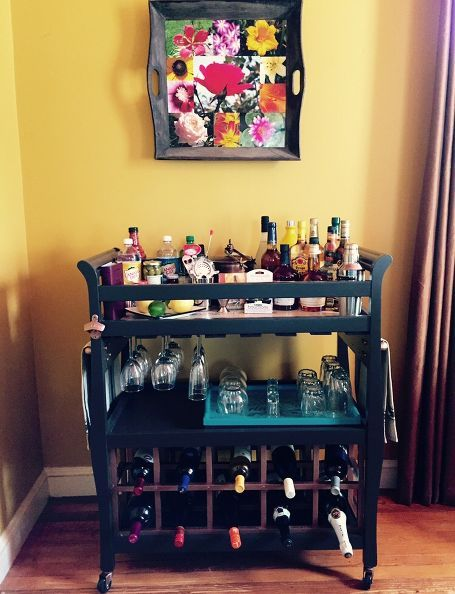 DIY Bar Cart From Old Changing Table