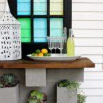 DIY Cinder Block Planter Bar