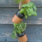 DIY Hanging Soup Can Herb Garden