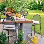 DIY Outdoor Bar With Cinder Blocks