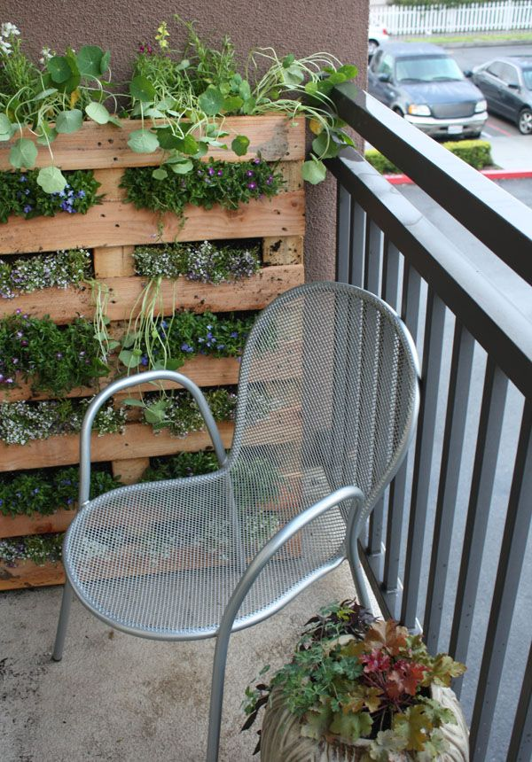 DIY Pallet Herb Garden On The Balcony