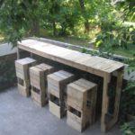 DIY Pallet Outdoor Bar