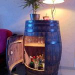 DIY Wine Barrel Bar