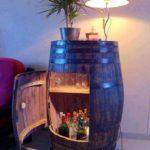 DIY Wine Barrel Cabinet