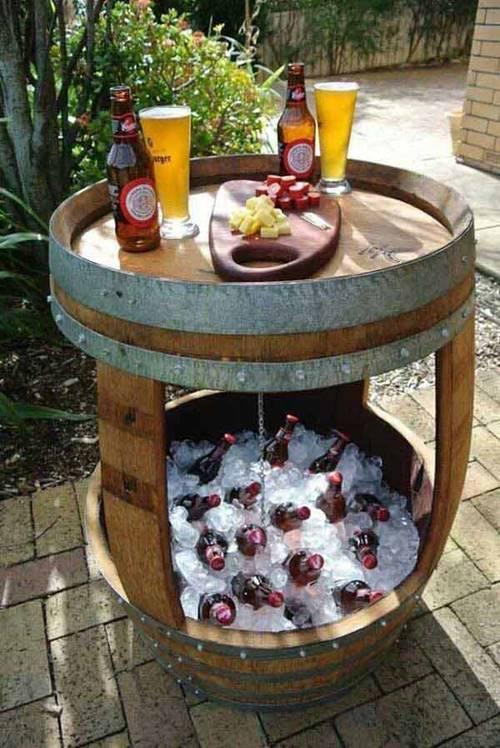 DIY Wine Barrel Cooler