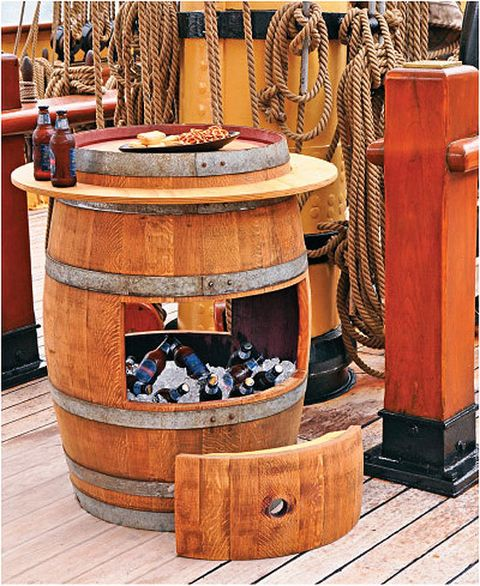 DIY Wine Barrel Cooler Idea