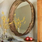 DIY Wine Barrel Mirror