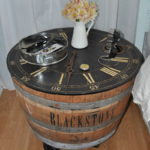 DIY Wine Barrel Nightstand