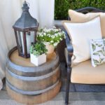 DIY Wine Barrel Side Table