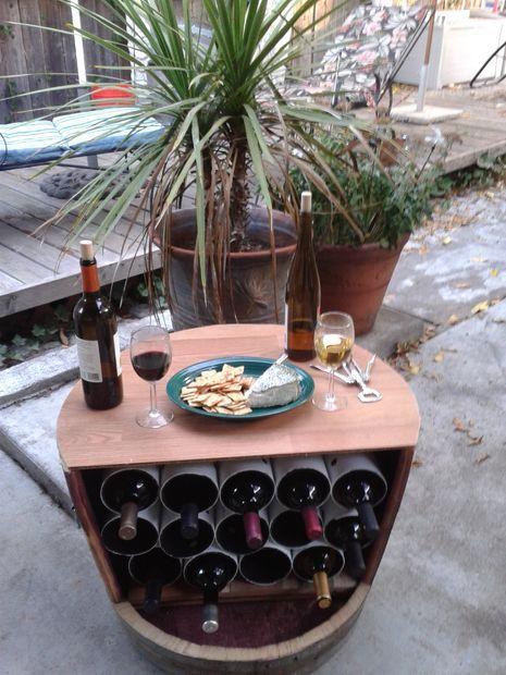 DIY Wine Barrel Wine Rack