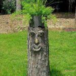 Funny Tree Stump Planter