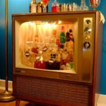 Old TV Turned Into A Mini Bar