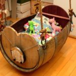 Old Wine Barrel Baby Cradle