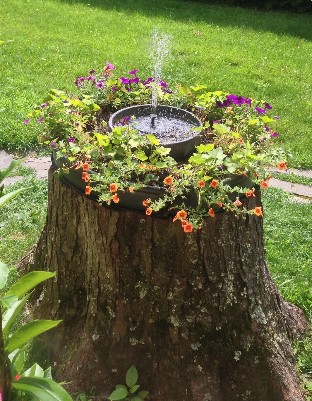Tree Stump Idea Fountain
