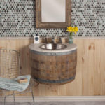 Wine Barrel Bathroom Sink