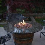 Wine Barrel Fire Pit Idea