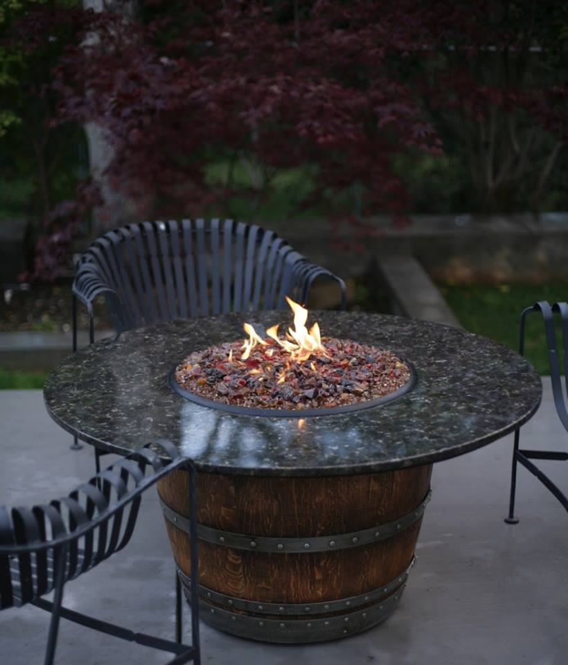 Wine Barrel Fire Pit Idea