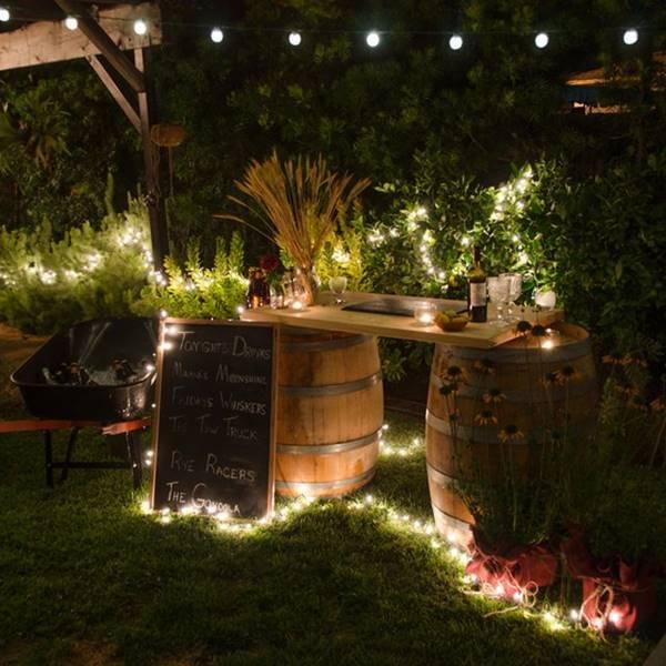 Wine Barrel Outdoor Bar