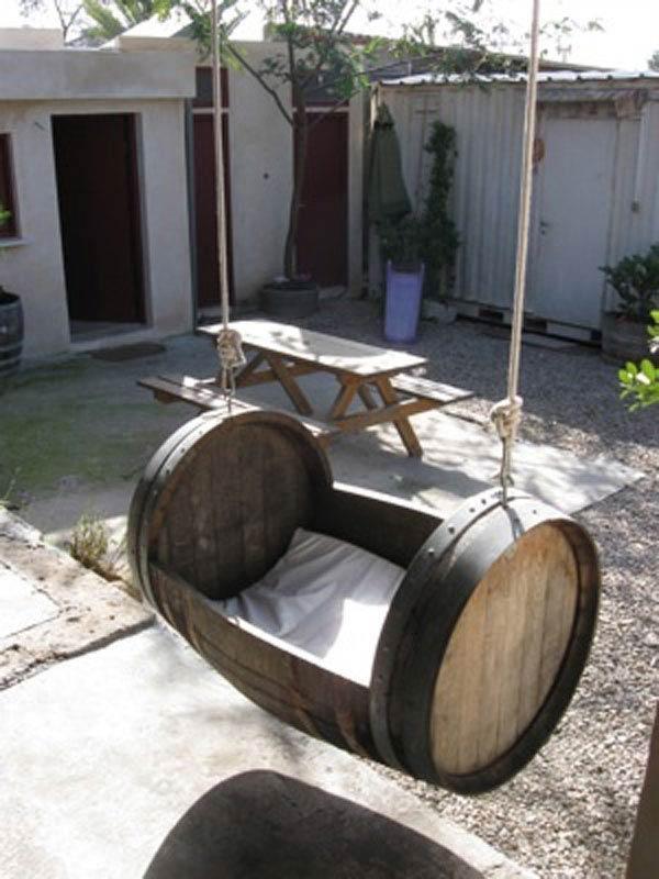 Wine Barrel Swing