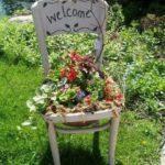 Garden Chair Planter Idea