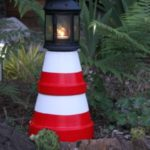 Garden Clay Pot Lighthouse