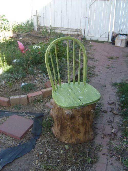 Tree Stump Garden Chair