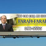 Farah & Farah Personal Injury Attorneys Billboard Design