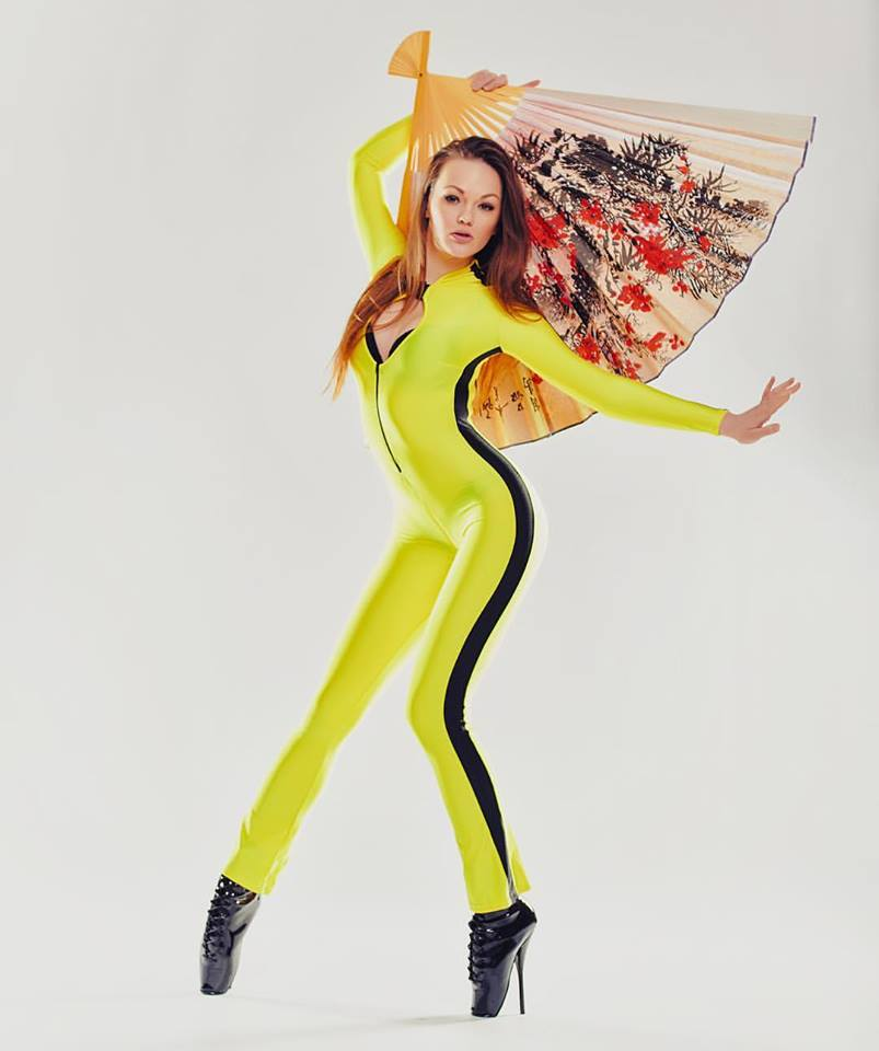 Alexandra Potter Latex Kill Bill Suit