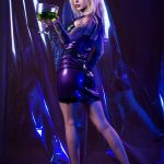Emily Astrom In Latex Dress