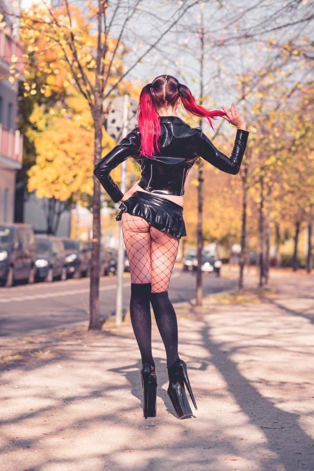 Lena Furfur Latex Dress