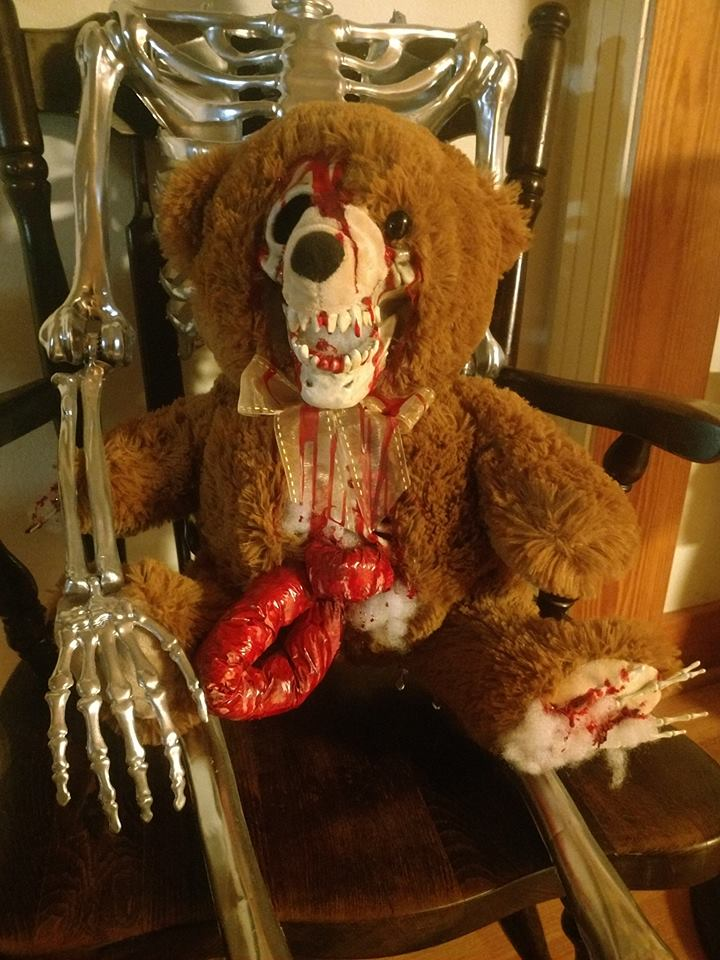 Creepy Halloween Teddy Bear
