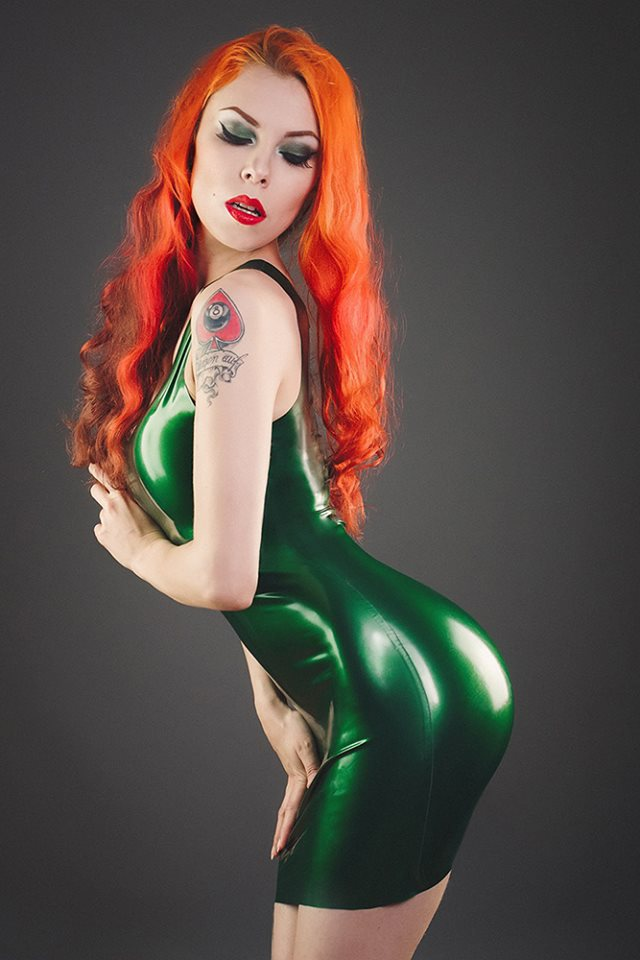 Annet Morningstar Green Latex Dress
