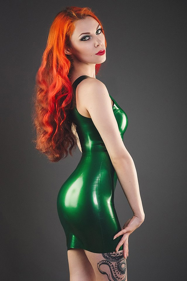 Annet Morningstar Green Latex Dress