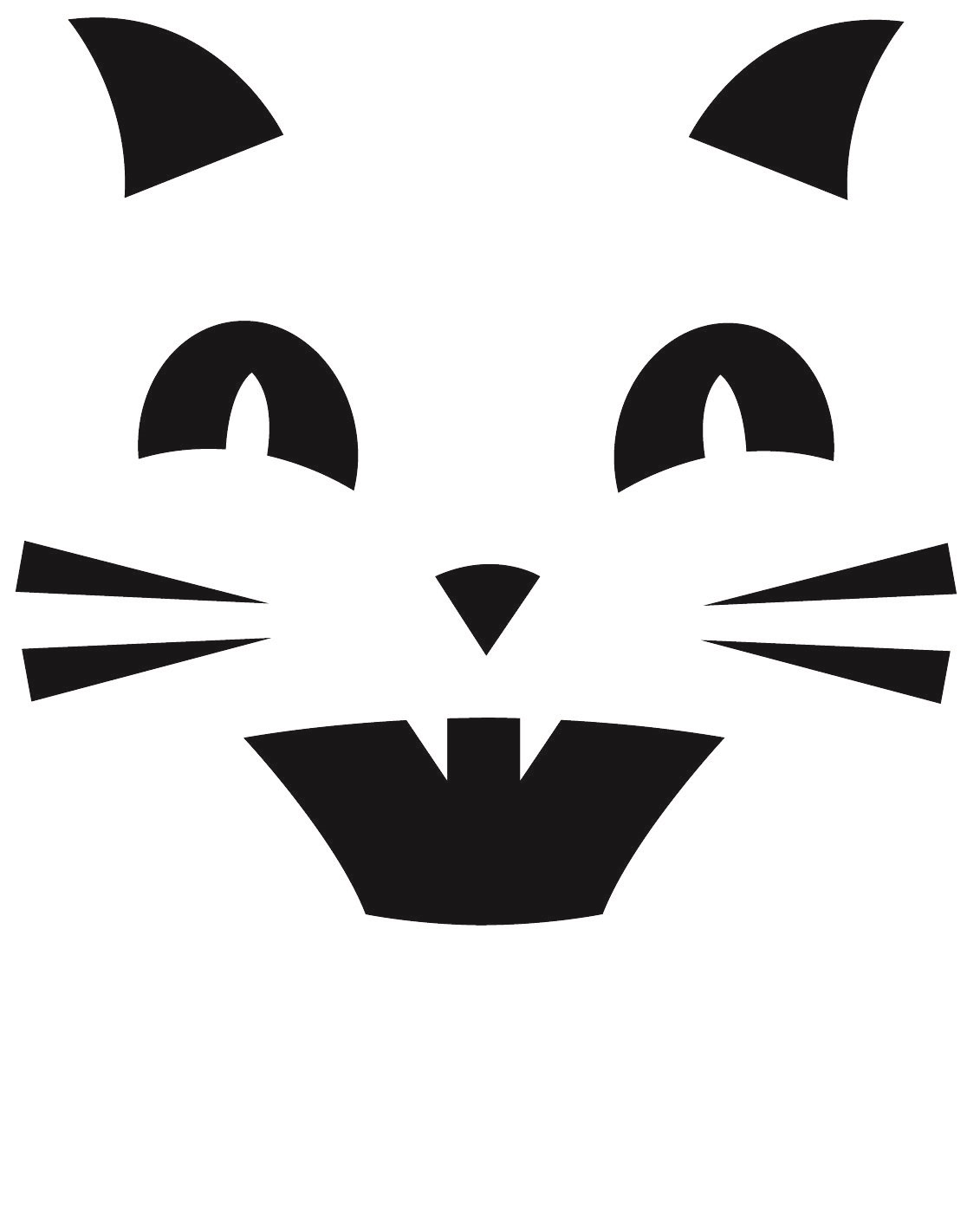 Cat Printable Pumpkin Carving Template