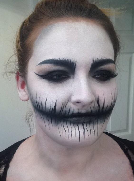 Corpse Like Black And White Halloween Makeup