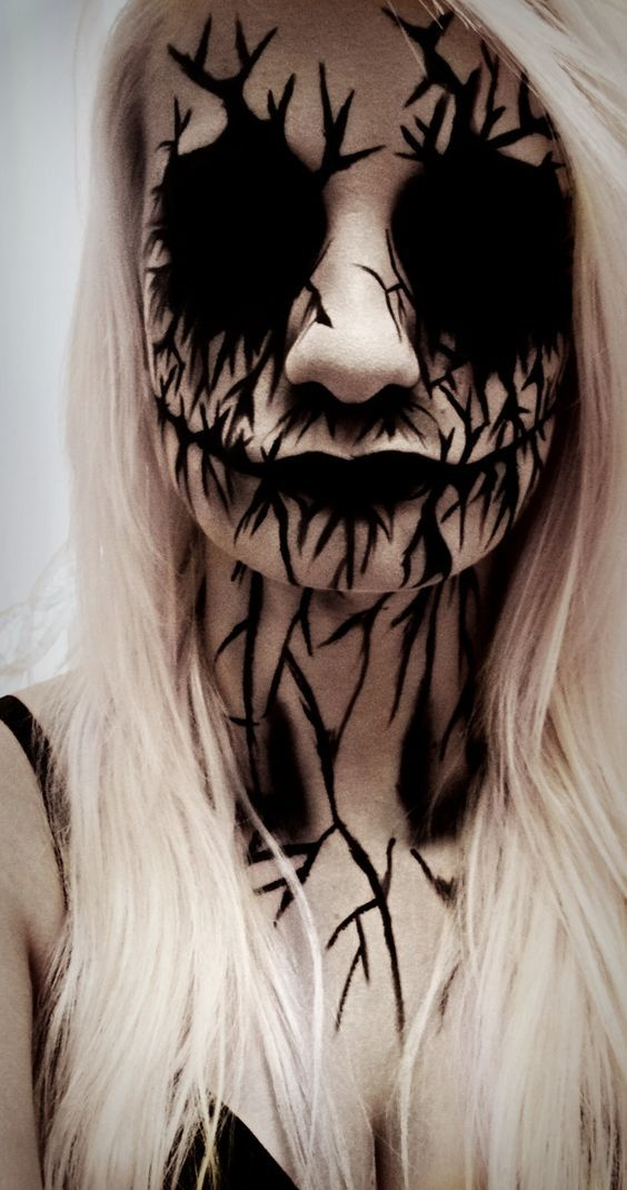 Evil Spirit Face Makeup