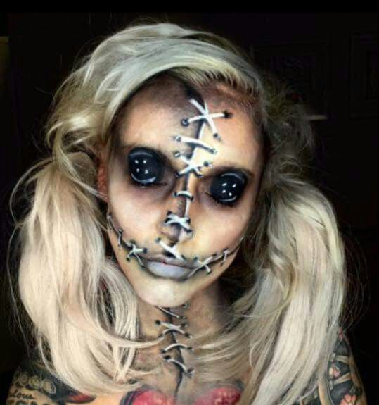 Evil Stitched Women Makeup